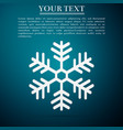 snowflake icon isolated on blue background vector image vector image