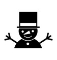 snowman character isolated icon vector image vector image