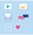 social media network email photo video chat vector image
