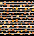 stripes and dots seamless pattern on black vector image vector image