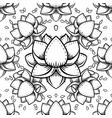 stylish lotus flowers seamless pattern ayurveda vector image vector image