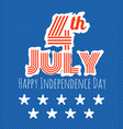 the celebration of the independence day vector image vector image