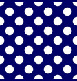 tile pattern with white polka dots on dark blue vector image vector image