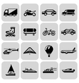 Transport icons black set vector image vector image