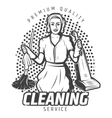 Vintage Cleaning Service Template vector image vector image