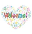 welcome back decorative lettering text vector image