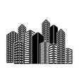 contour buildings and city scene icon image vector image