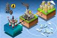 Isometric Infographic Petroleum Rig Energy Diagram vector image
