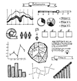 set of hand drawn doodle infographics vector image
