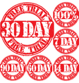 30 Day trial stamp vector image vector image