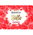 8 march modern background design with red roses vector image vector image