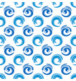 abstract blue waves seamless pattern design vector image vector image