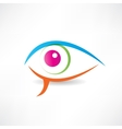 abstract human eye icon vector image vector image