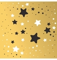 Abstract Xmas golden star background design vector image