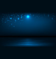 background sea and night sky with vector image