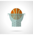 Basketball hoop flat color design icon vector image vector image