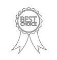 best choice icon design vector image