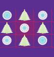 blue cartoon christmas tree seamless pattern vector image vector image