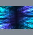 blue speed bar and triangle abstract background vector image vector image