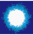 Blue Splattered Painted Background vector image
