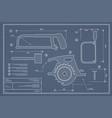 blueprint building tool set drawing plan layout vector image vector image