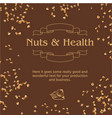 brown background and ground nuts vector image vector image