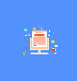 business blogging commercial blog posting intern vector image vector image