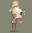 Businessman losing money vector image vector image