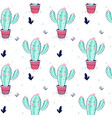 cactus seamless pattern print design with slogan vector image vector image