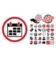 Calendar Flat Icon with Bonus vector image vector image