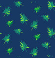 cartoon leaves of palm tree seamless vector image