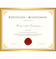 Certificate template for achievement vector image vector image