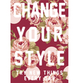 Change your style vector image vector image