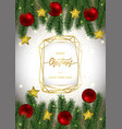 christmas and new year card with gold geometric vector image vector image