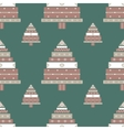 Christmas tree gifts seamless pattern vector image
