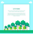city park with trees different shapes and sizes vector image vector image