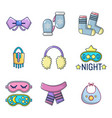 clothes accesories icon set cartoon style vector image vector image