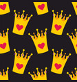 crown seamless background or tile pattern vector image vector image