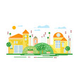 cute real estate cottages residential buildings vector image