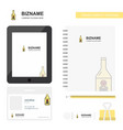 drink bottle business logo tab app diary pvc vector image vector image