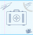first aid kit line sketch icon isolated on white vector image