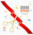 grand opening invitation card vector image vector image