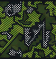 green color geometric seamless pattern vector image