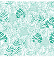 green tropical leaves summer hawaiian vector image