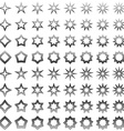 Grey star shape set vector image vector image