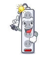 have an idea isolated power strip with the mascot vector image vector image