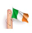ireland flag waving vector image vector image