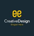 letter ee creative business modern logo vector image vector image