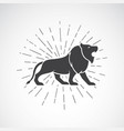 lion on white background animal lion symbol vector image vector image