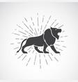 lion on white background animal symbol vector image